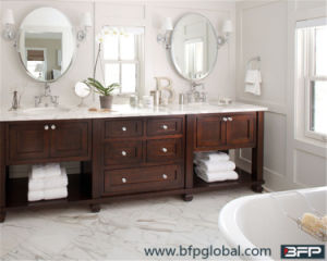 European Style Shaker Vanity Bathroom Furniture Panel with Basins Mirror pictures & photos