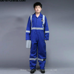 100% Cotton Proban Flame Retardant Safety Coverall with Reflective Tape