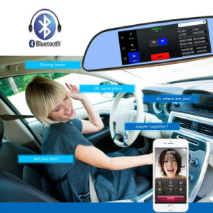 3G Car DVR Android 5.0 Bluetooth GPS FM Transmitter Dual Lens Rearview Mirror Camera pictures & photos