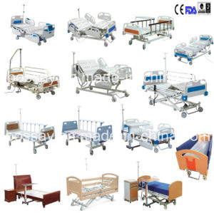 Two Colours Metal Electric Hospital Bed pictures & photos
