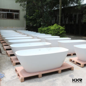 Wholesale Solid Surface Stone Resin Freestanding Shower Bath pictures & photos
