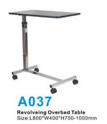 Adjustable Wooden Hospital Over-Bed Gas Spring Dining Table for Medical Use pictures & photos