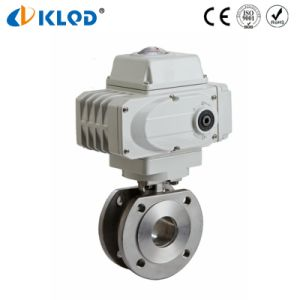 Electric Actuator Stainless Steel Italy Type Thin Ball Valve pictures & photos