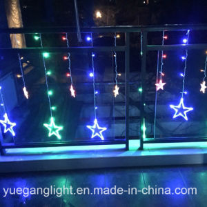 2017 Good Quality LED Color Changing Curtain Light Wholesale Curtain Light with 12 Stars From Yuegang pictures & photos