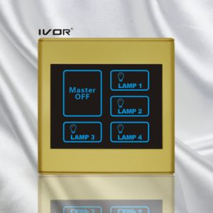 4 Gangs Lighting Touch Switch with Master Control Plastic Frame (SK-T2300L4-M) pictures & photos