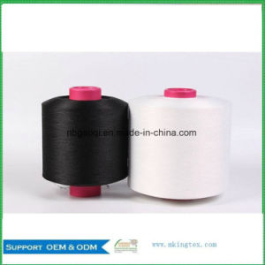 Raw Scy 2075/3075/4075 White/Black China Polyester Covered Spandex Yarn pictures & photos