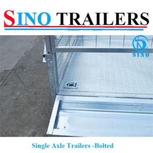 Stainless Steel Single Axle Bolted Cage Trailers pictures & photos
