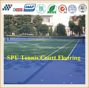 Flexible Spu Rubber Sport Floor Covering for Tennis Court pictures & photos