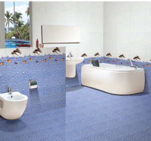 Glazed Inkjet Interior Porcelain Wall Tile for Washroom Decoration 300X450mm pictures & photos