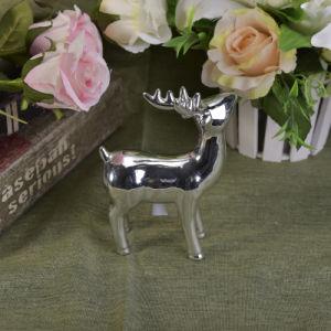 Silver Mercury Animal Ceramic Mantle Shelf Table Centerpiece Deer Decor pictures & photos