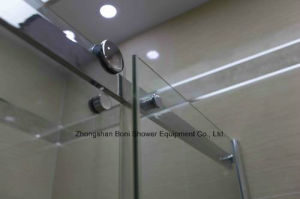 Shower Room 8mm Big Roller Sliding Door Shower Enclosure pictures & photos