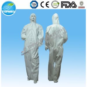 Hot Sale Disposable Workman′s Coverall, Protective Oil Resistant Coverall pictures & photos