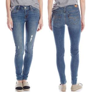 Wholesale Fashion Skinny Tight Cotton Ladies Denim Jeans pictures & photos