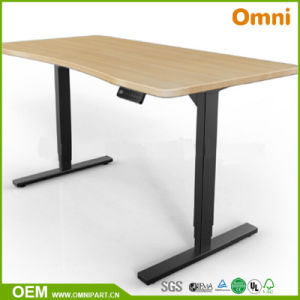 Single Person Beautiful Electric Height Adjustable Desk pictures & photos