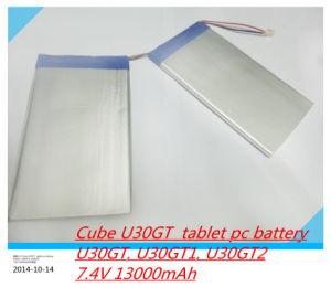7.4V 13000mAh Tablets Batteries DIY Cube U30gt, U30gt1, U30gt2 Dual Four-Core Tablet PC Battery Size: 3.5 * 151 * 125 mm pictures & photos
