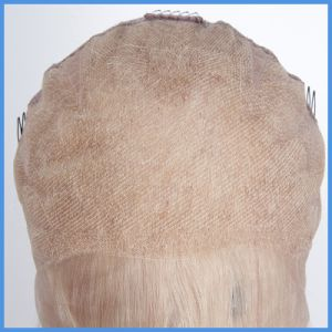613#Blonde Human Hair Full Lace Wig/Lace Wig pictures & photos