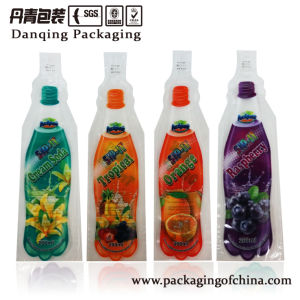 Bottle Shape Plastic Injection Bags Beverage Packaging Bag pictures & photos