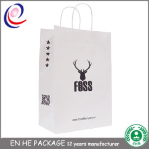 300GSM Heavy Material Gold Foil Logo Custom Paper Bag