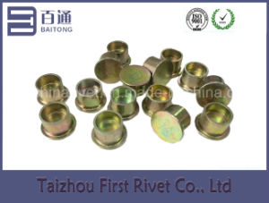12.7X10mm Zinc Plated Flat Head Semi Tubular Steel Rivet pictures & photos