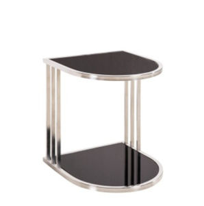 Luxury Modern Design Hotel Living Room Tempered Glass with Golden Color Stainless Steel Table