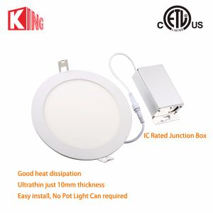 Energy Star ETL Approval 6 Inch Super Thin LED Recessed Light Dimmable 12W