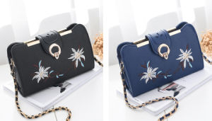 Fashion Style Embroidered Crossbody Bag PU Women Clutch Bag pictures & photos
