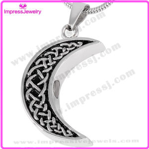 Stainless Steel Pendant Necklace Cremation Urn Jewelry (Moon Necklace) pictures & photos
