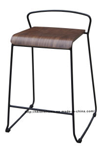 Modern Replica Steel Furniture Plywwod Counter Bar Stools pictures & photos