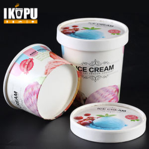 Ice Cream Paper Cup with Lid for Ice Cream Soup pictures & photos