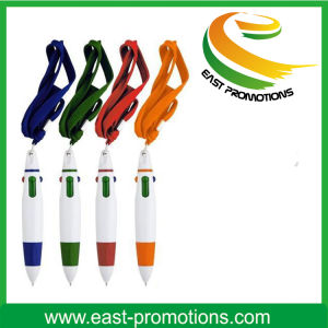 Hot Sale Advertising 3 Color Ball Pen with Neck Rope pictures & photos