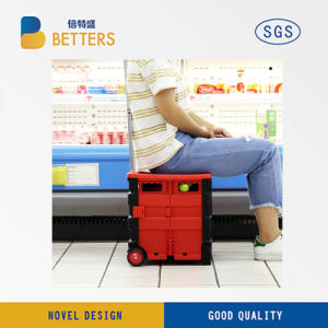 Manufacturers Folding of 2 Wheels Plastic Trolley pictures & photos