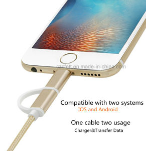 Colorful Nyon Charger&Transfer Data Two in One I6&V8 Cable pictures & photos
