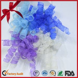 Four Color Organza Decorative Curling Bow pictures & photos