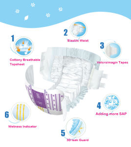 Soft Surface Adult Diaper Disposable Nappy High Quolity pictures & photos