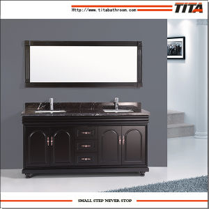 High Quality Marble Top Bathroom Vanity Cabinet T9091-60e/72e pictures & photos