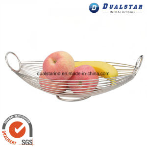 Stainless Steel Oval Fruit Basket