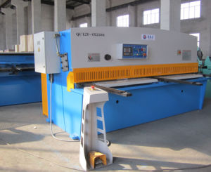 QC12y-4X2500 Hydraulic Swing Beam Shearing and Cutting Machine pictures & photos
