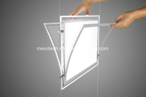 Crystal Acrylic Advertising Magnetic LED Light Box with Engraved Logo pictures & photos