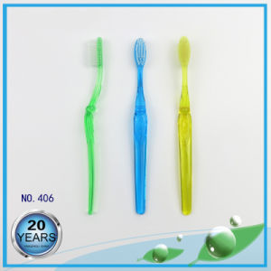 Soft Bristle Transparent PS Handle Adult Toothbrush pictures & photos