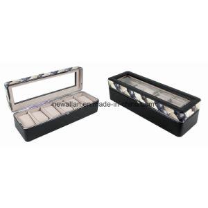 Beautiful Handmade Luxury PU Leather Wood Watch Box Watch Case