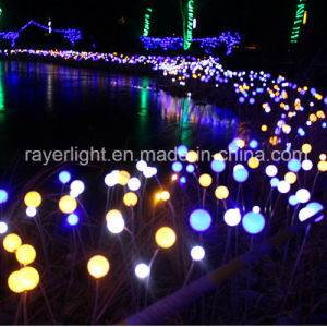 Outdoor LED 7cm Ball Flower Decoration Lights for Garden Decor pictures & photos