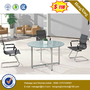 ISO9001 Certificate Office Furniture Glass Top Coffee Table (NS-GD075) pictures & photos