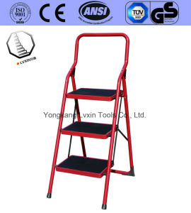 En131 Certificate Household Steel Step Ladder pictures & photos