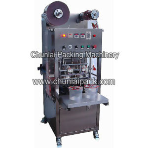 Yogurt Plastic Tub Sealing Machine pictures & photos