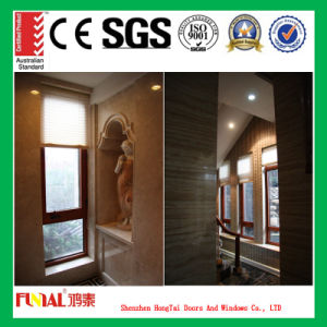 Customized Size America Oak Wood Aluminum Casement Window pictures & photos
