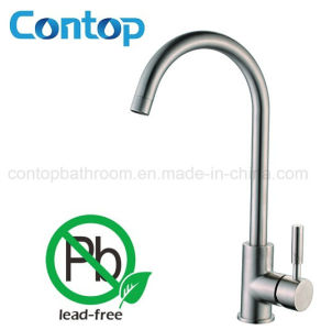 Quality Solid 304 Stainless Steel Round Kitchen Sink Faucet pictures & photos