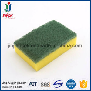 (YF-SP25) Kitchen Cleaning Nylon Sponge Scrubber pictures & photos