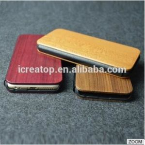Factory Price Wood Wallet Phone Case for iPhone6/6+/7/7+