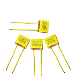 Small Yellow 275VAC X2 Metallized Polypropylene Film Capacitor Soft Wire pictures & photos