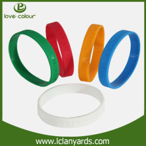 Customized Concave Imprinted Silicone Wristband for Advertising Gift